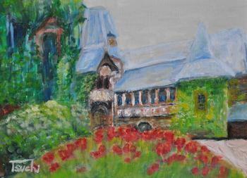 花の咲く中庭 Cochem an der Mosel2.jpg